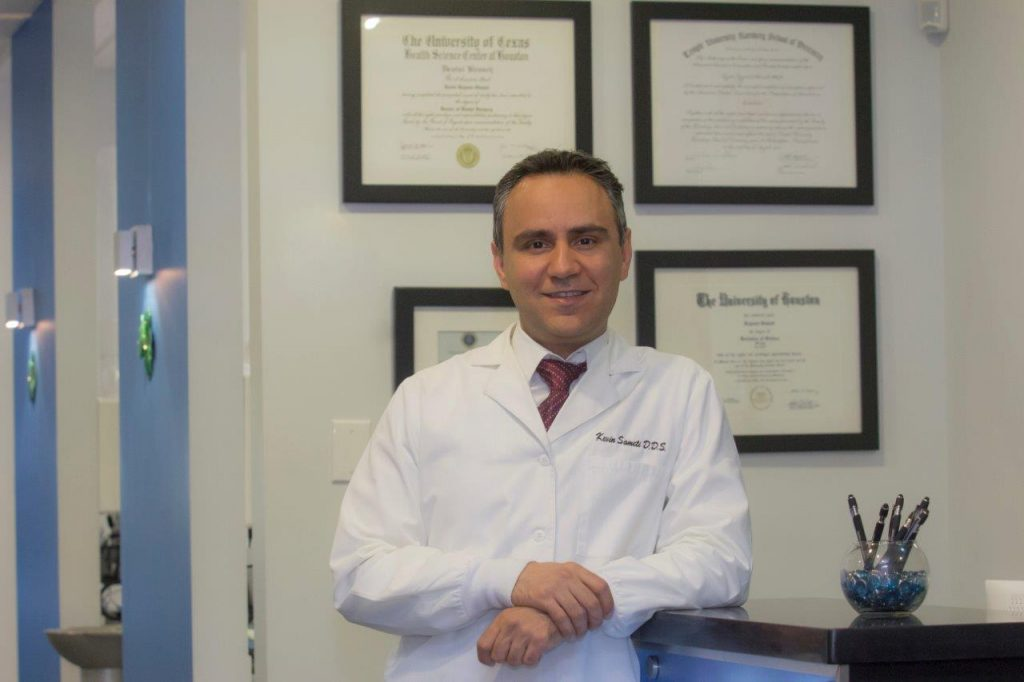 Dr. Kevin Sameti standing at the office